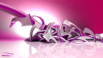 Cool Galaxy 3D Graffiti Wallpaper