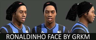 PES 2013 Ronaldinho Face by Grkm