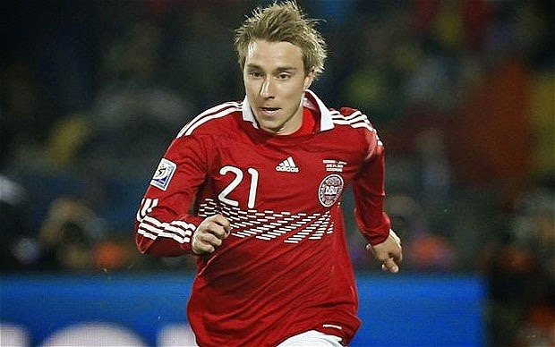 Christian Eriksen (Denmark) best players to Watch at FIFA World Cup 2014