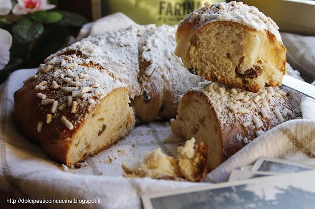 i dolci della nonna: pane dolce con l'uvetta