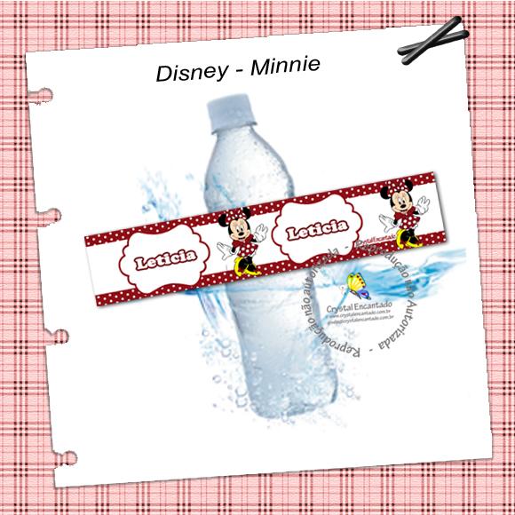 Rotulo garrafa de agua Minnie