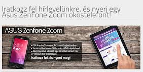 Iratkozz fel a hírlevélre, és nyerj egy Asus ZenFone Zoom okostelefont!