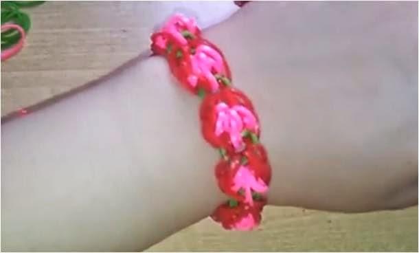 Cómo hacer una pulsera de rosas