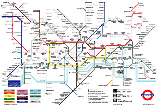 London England Subway Map