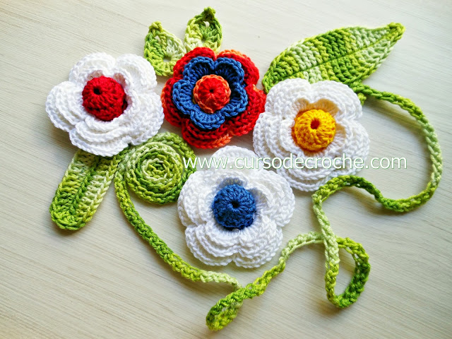 rosas em croche vermelhas amarelas brancas coloridas aprender croche dvd loja curso de croche