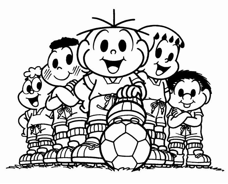 Direitos da criança - Turma da Mônica - colorir
