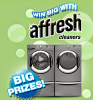 Affresh Giveaway Banner Featuring Whirlpool Laudry duo -Win Big Prizes
