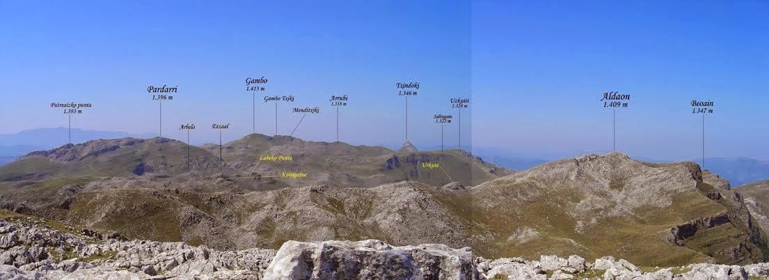 Vistas desde la cima de Irumugarrieta 1.340 m