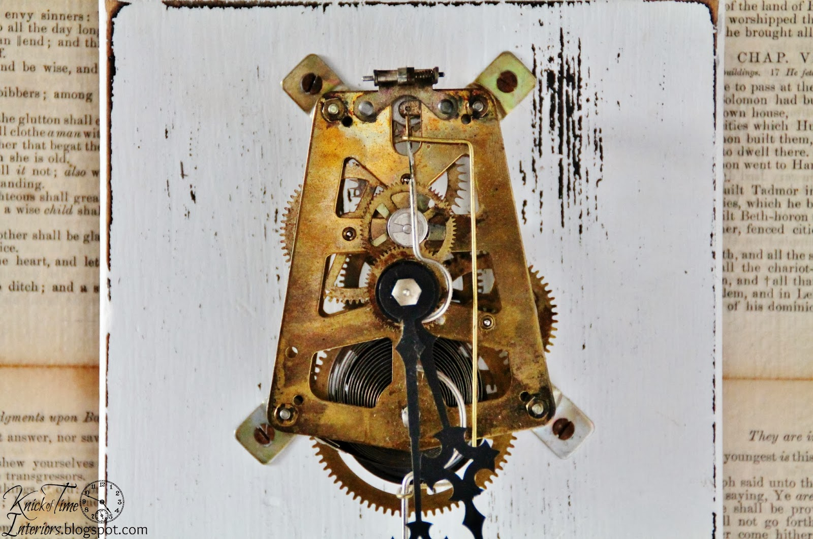 repurposed clock gears wall art knick of time