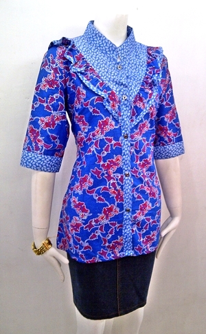 Model Baju Batik Muslim Terbaru 2015 Supranaturaljokowi.com