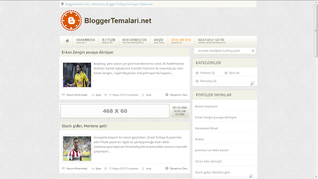 Blogger Blog Teması Bloggereklentileriorg