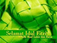 Selamat Idul Fitri 1434 H Mohon Maaf Laahir dan Bathin