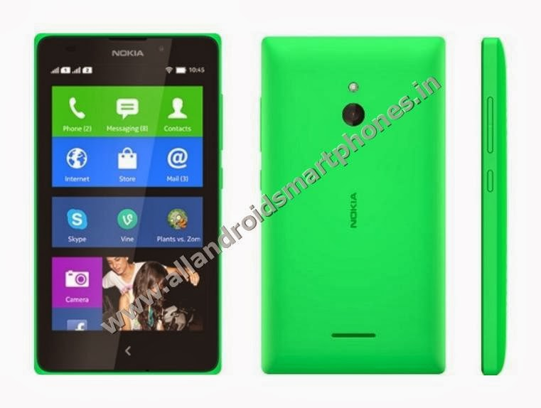 Nokia XL 3G Dual Sim Android Phablet Bright Green Front Back Side All Images Photos Review