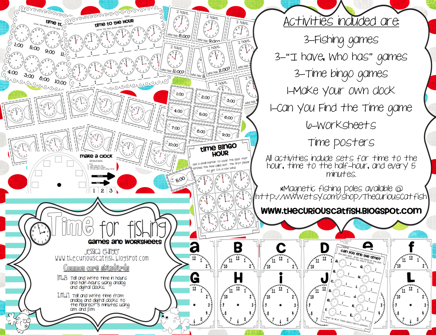 Time for Fishing Games and Worksheets The Curious Catfish – Motivation Worksheets