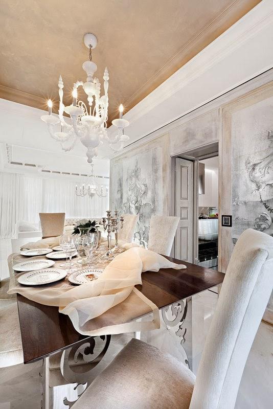 Boiserie c salotto e sala da pranzo di rappresentanza for Salotto e sala da pranzo