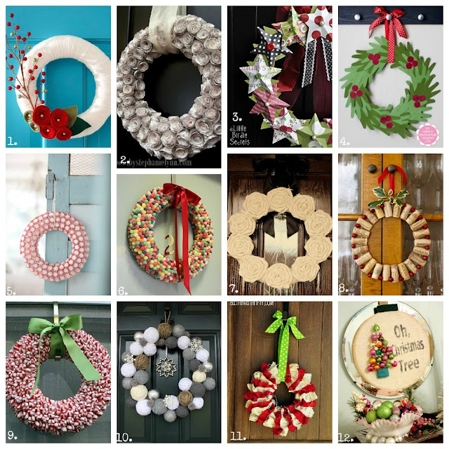 Christmas, crafts, DIY, desserts, 100, wreaths