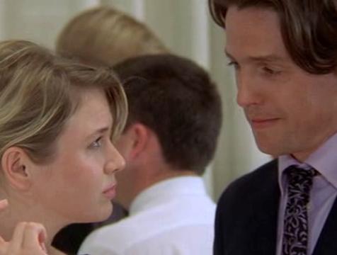 Bridget Jones (Renée Zellweger) y Daniel Cleaver (Hugh Grant) en El diario de Bridget Jones - Cine de Escritor