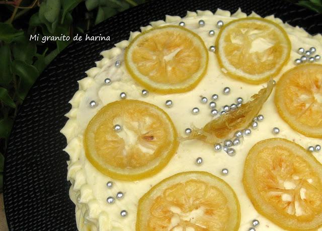 Tarta de buttercream de limón