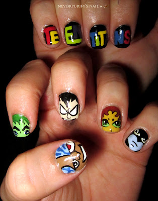 teen titan nails