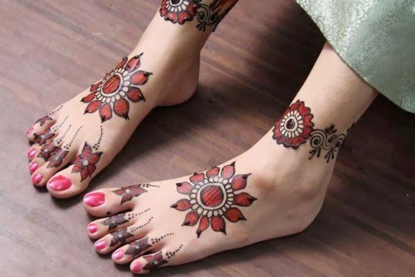 Beautiful latest simple arabic pakistani indian bridal - Small foot design ...