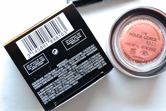 Chanel Illusion DOmbre Rouge Gorge 116 Fall 2015 Les Automnales Makeup Ingredients
