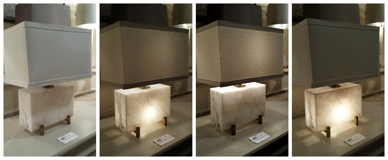 Focal point styling hpmkt design blogger tour john richard a unique stone table lamp including 4 different lighting options arubaitofo Gallery