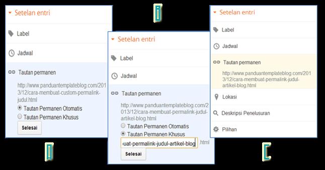 Cara Membuat Custom Permalink Judul Postingan Artikel Blog