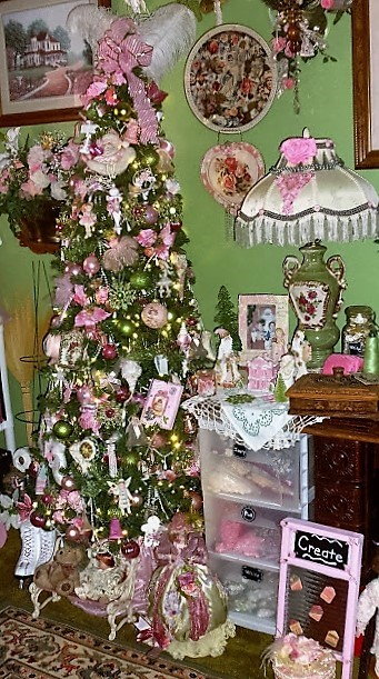 Craft Room Tree, Christmas Home Tour, 2016
