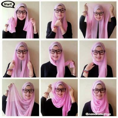 cara memakai hijab tahun 2016