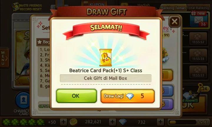 Cara Mendapatkan Beatrice dari Jackpot Draw, Cara Dapatkan Beatrice.