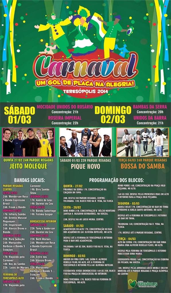 Carnaval Um gol de placa na alegria – Teresópolis 2014