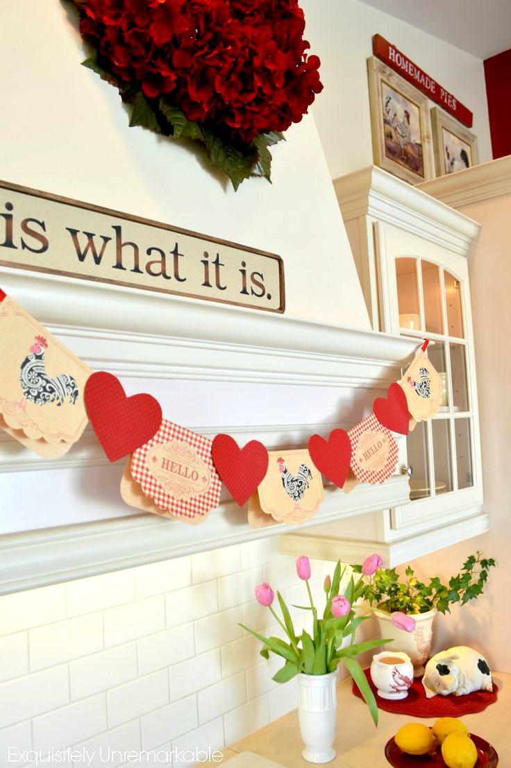 Valentine Notecard Banner