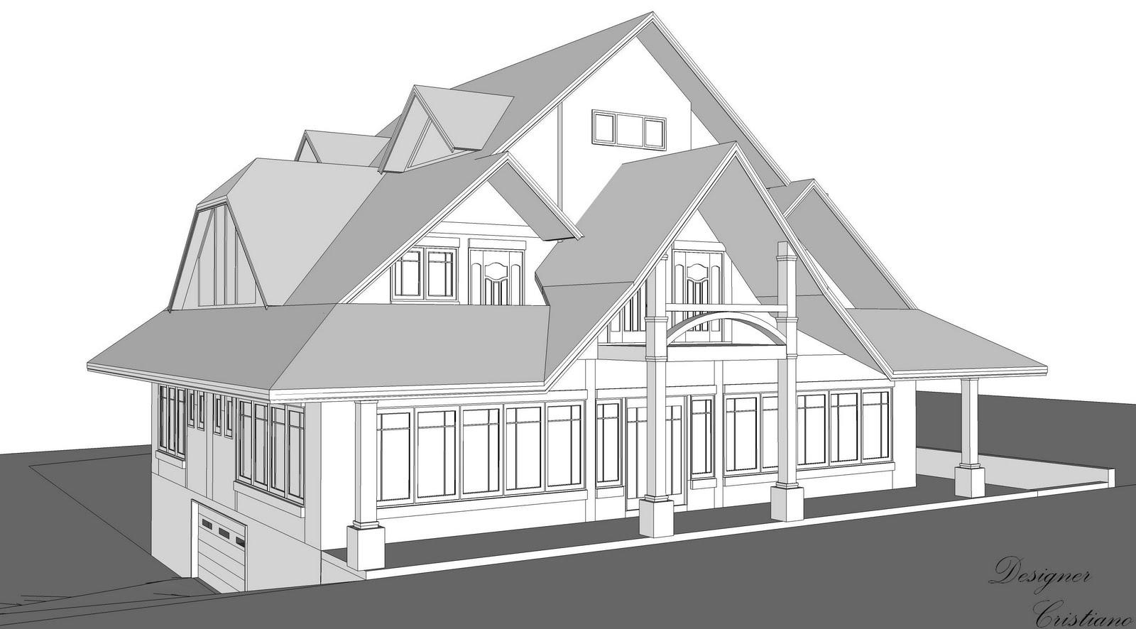 Cristiano Souza : Perspectiva comercial e residencial. #4D4D4D 1600x886 Banheiro Completo Autocad