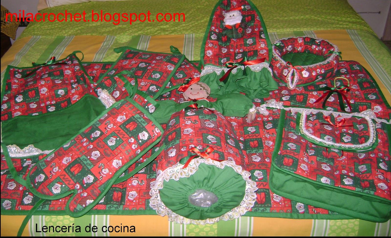Lenceria De Baño Navidad:Mila Artes Manuales : LENCERIA COCINA, BAÑO Y CUARTO