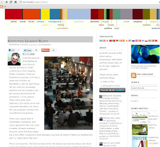 Screen shot of Warlick's blog