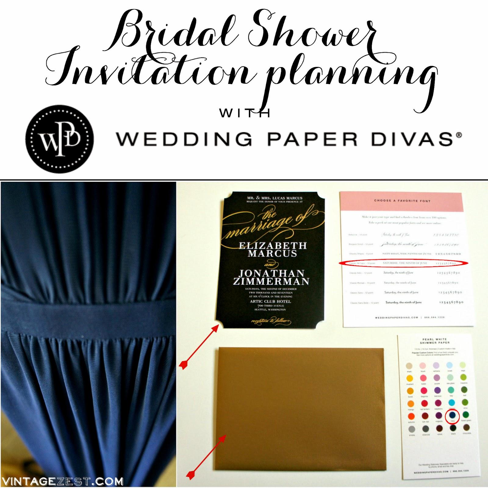 Bridal Shower Invitation planning with Wedding Paper Divas Dianes