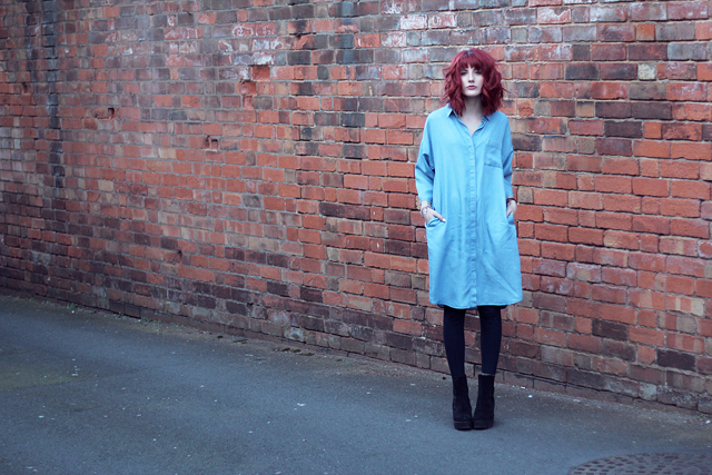 A fashion and lifestyle blog by wonderful you wearing COS denim-look shirt dress for spring 15