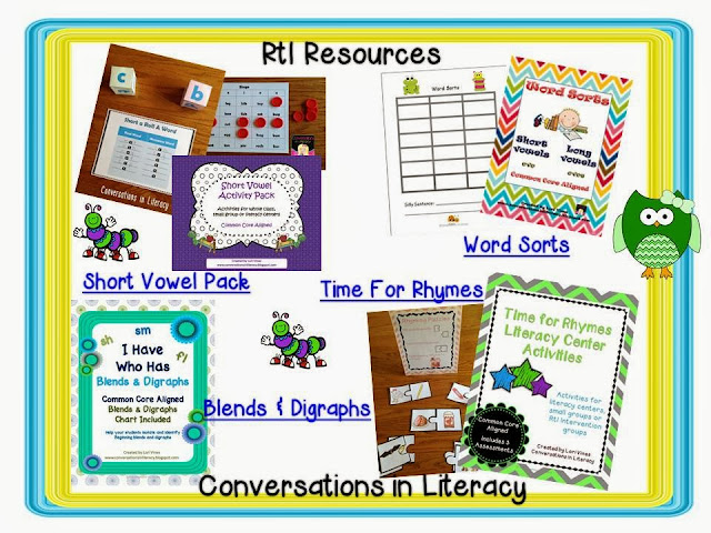 resources to use for RtI intervention groups