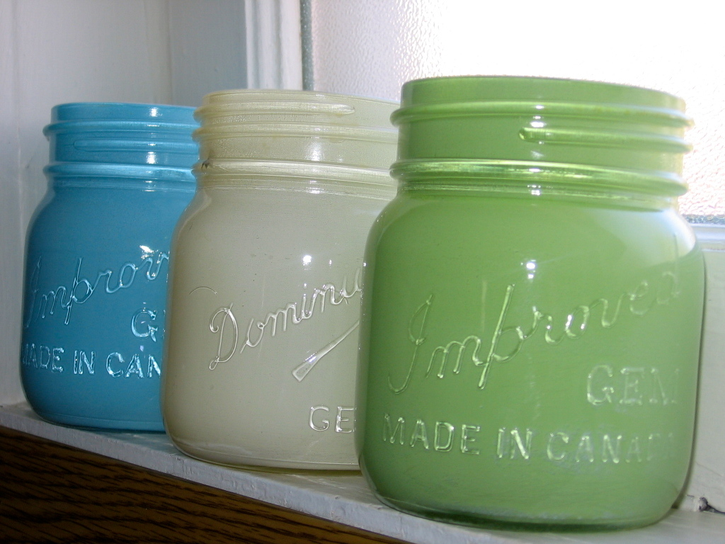 mason jars painted - photo #40