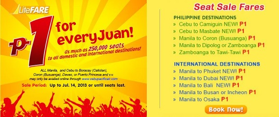 Cebu Pacific: P1 for Every Juan