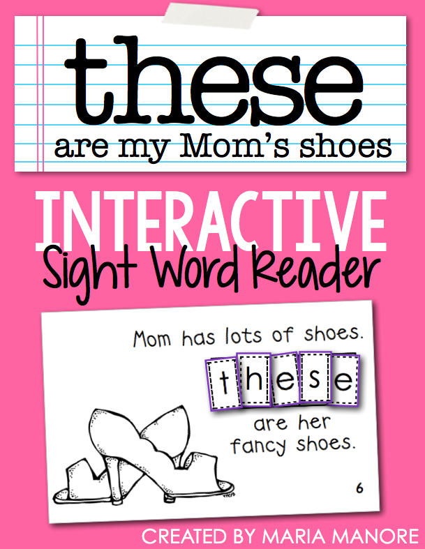 "emergent reader for sight word ""THESE"""