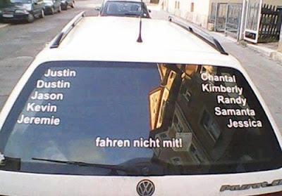 Justin Dustin Jason Kevin Jeremie Chantal Kimberly Randy Samanta Jessica fahren nicht mit!