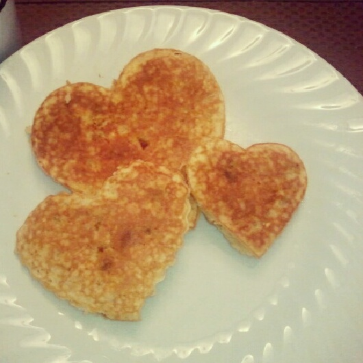 ... heart shaped chocolate chip banana pancakes heart shaped chocolate
