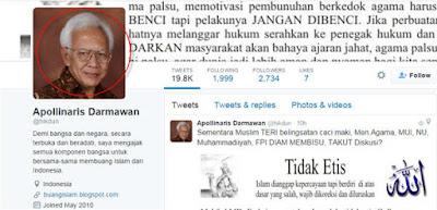 Menghina Agama Islam, Akun Twitter Ini Masih Bebas Tanpa Tersentuh Hukum
