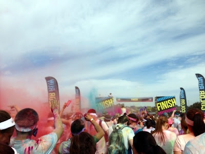 The Color Run finish line