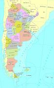 La República Argentina es el segundo estado más extenso de América del Sur y . mapa argentina politico