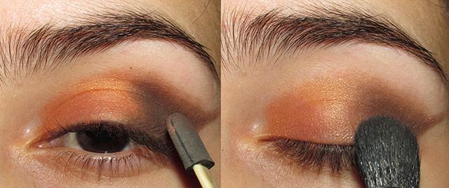 Tutorial  Batom roxo e olho laranja acobreado • Maquiando Sem Crueldade 6a7c49dfd258a