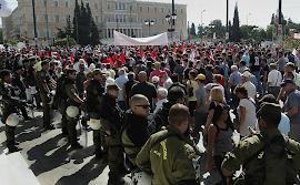 Milhares protestam na Grécia
