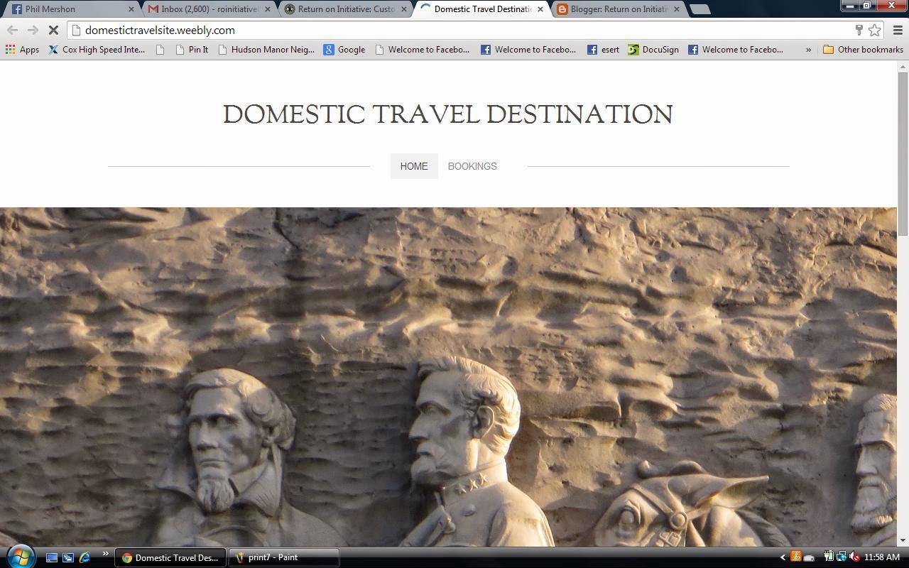 Domestic Travel Destinations
