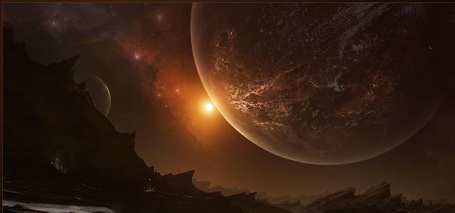 Lua gigante, giant moon, super lua, arte digital lua